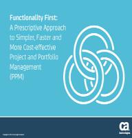 La funcionalidad primero (PPM)