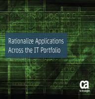Racionalizar aplicaciones. Al otro lado del portfolio IT