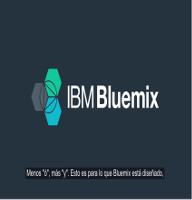 IBM Bluemix – Acelera la innovación