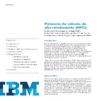 Potencia de cálculo de alto rendimiento (HPC)
