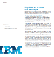 Big data en la nube con Softlayer