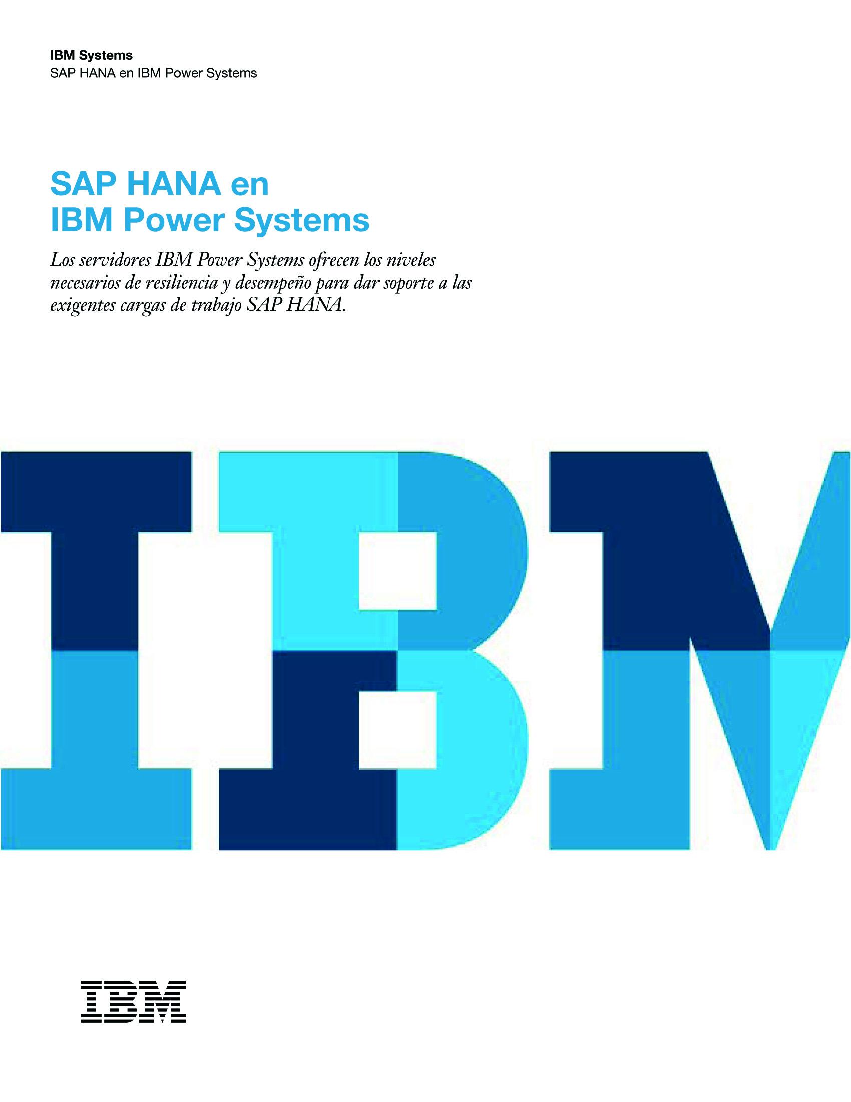SAP HANA en IBM Power Systems