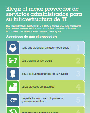 Elegir el mejor proveedor de servicios administrados para su infraestructura de TI
