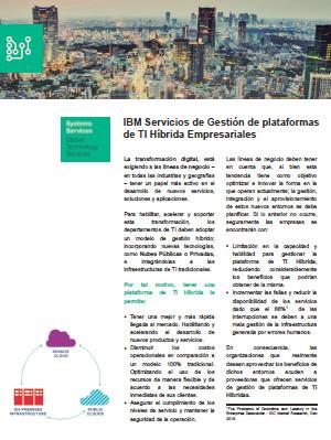 IBM Servicios de Gestión de plataformas de TI Híbrida Empresariales