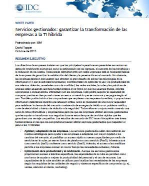 Servicios gestionados: garantizar la transformación de las empresas a la TI híbrida