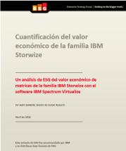 Cuantificación del valor económico de la familia IBM Storwize