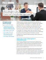 FICO Solutions for Customer Lifecycle Management