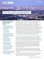 Improve Risk of a Credit Application by using FICO® Alternative Lending Platform