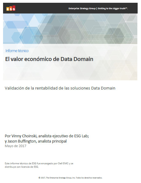 El valor económico de Data Domain