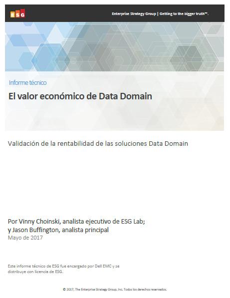 El valor económico de Data Domain