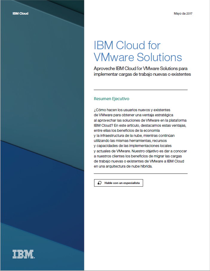 Whitepaper IBM Cloud for VMware Solutions