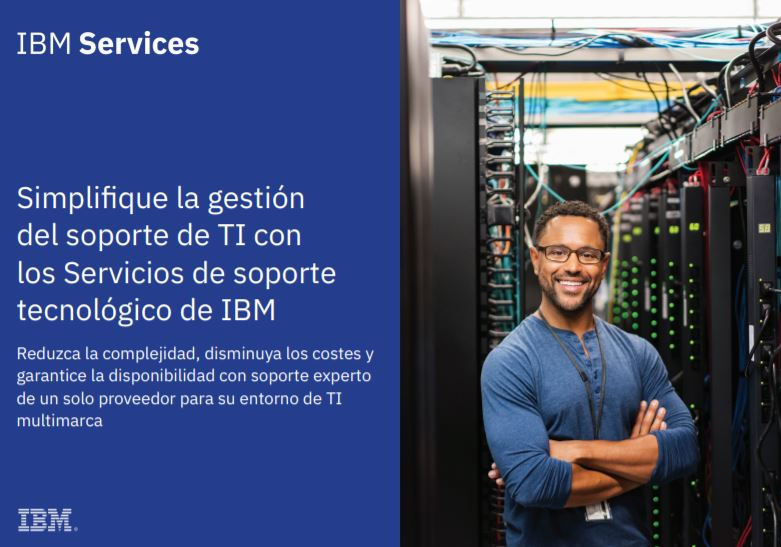 Simplifique la gestión del soporte de TI con los Servicios de soporte tecnológico de IBM