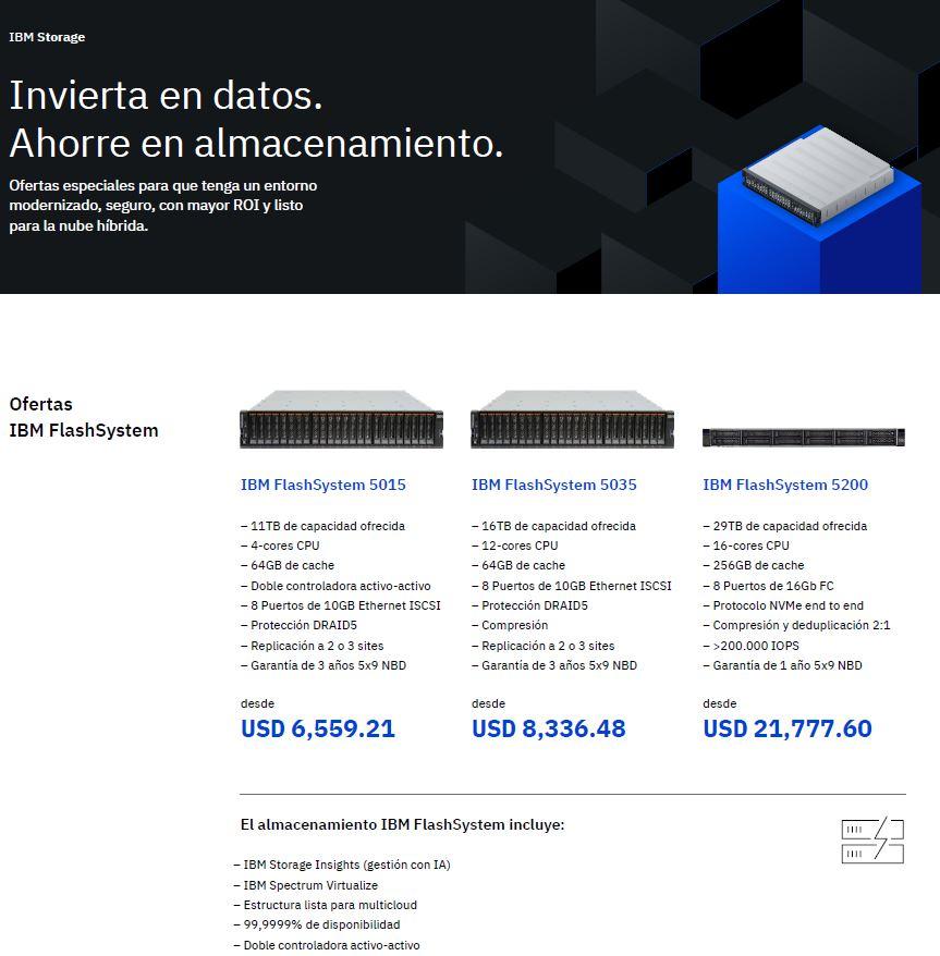 Aproveche las ofertas de IBM Storage: invierta en datos, ahorre en almacenamiento_COL