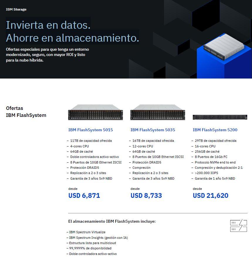 Aproveche las ofertas de IBM Storage: invierta en datos, ahorre en almacenamiento_EC