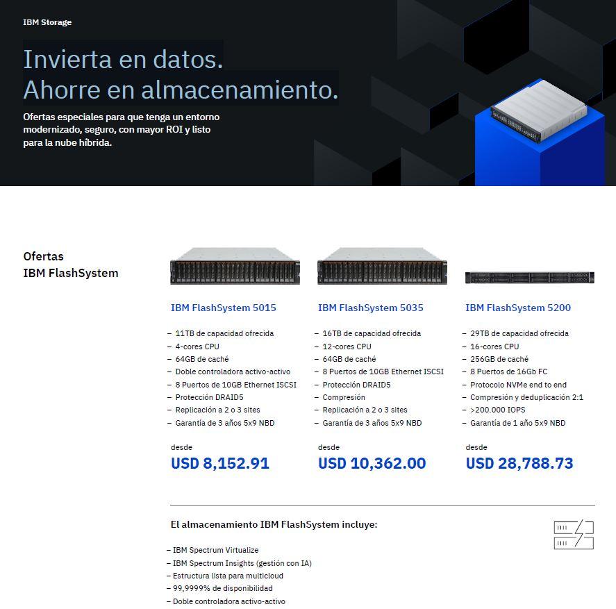 Aproveche las ofertas de IBM Storage: invierta en datos, ahorre en almacenamiento_MX