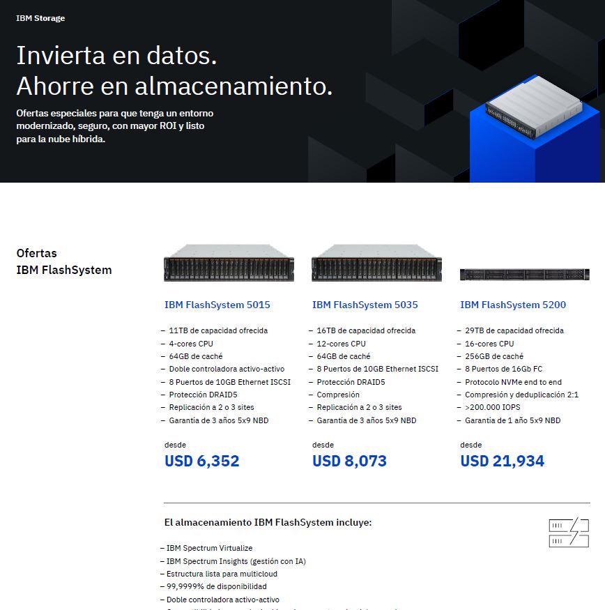 Aproveche las ofertas de IBM Storage: invierta en datos, ahorre en almacenamiento_PE