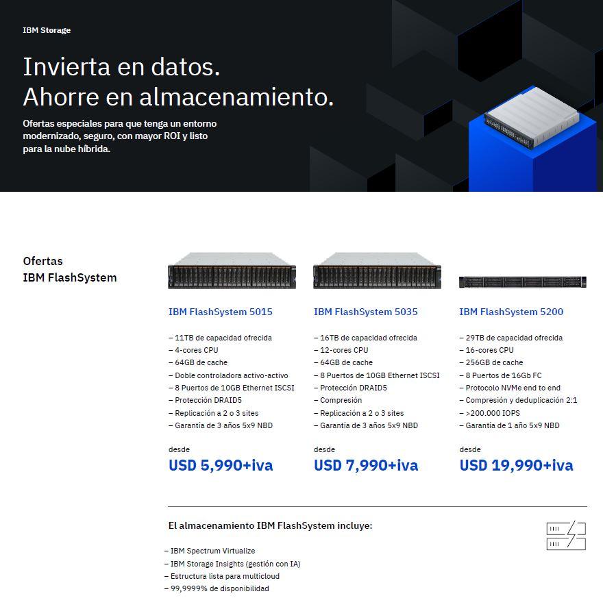 Aproveche las ofertas de IBM Storage: invierta en datos, ahorre en almacenamiento_CL