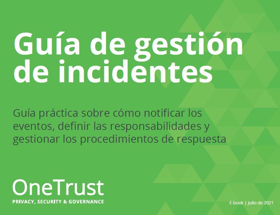 Guía de gestión de incidentes