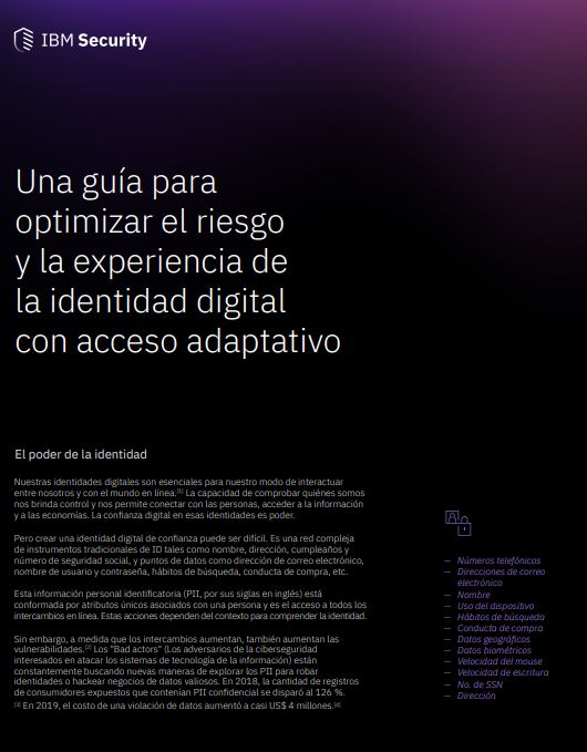 Guía para optimizar el riesgo y la experiencia de la identidad digital con acceso adaptativo